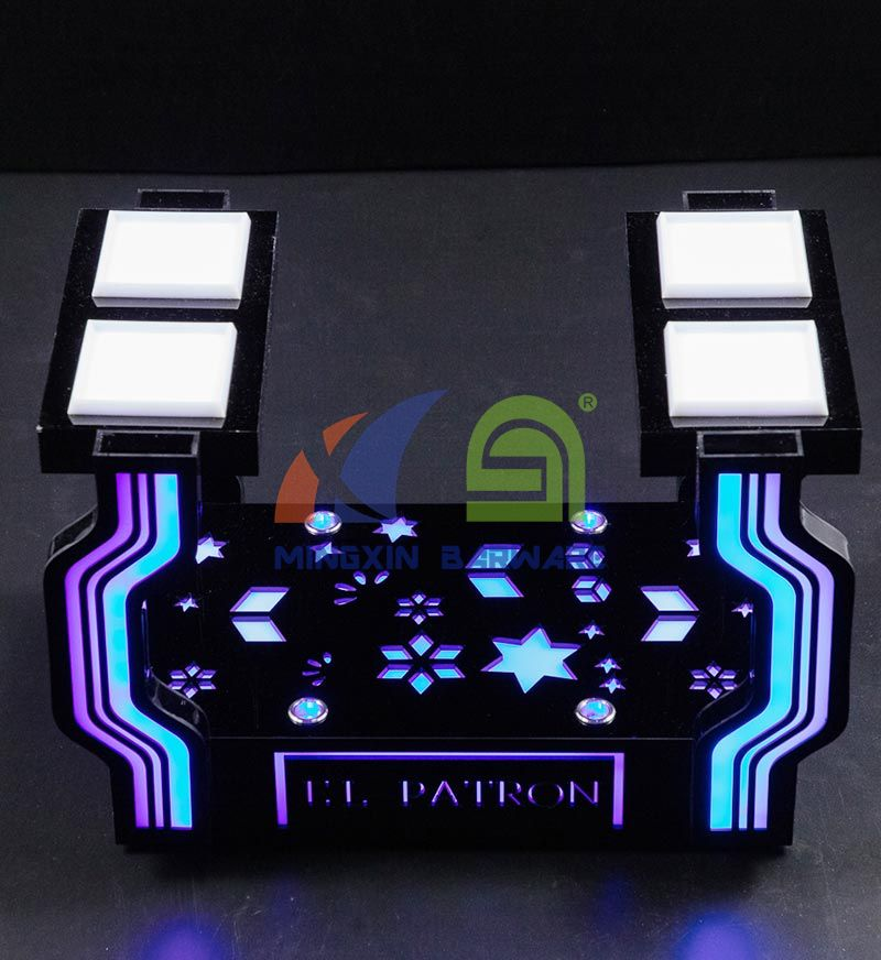 LED Fruit & Snack Serving Tray with Laser Lighting