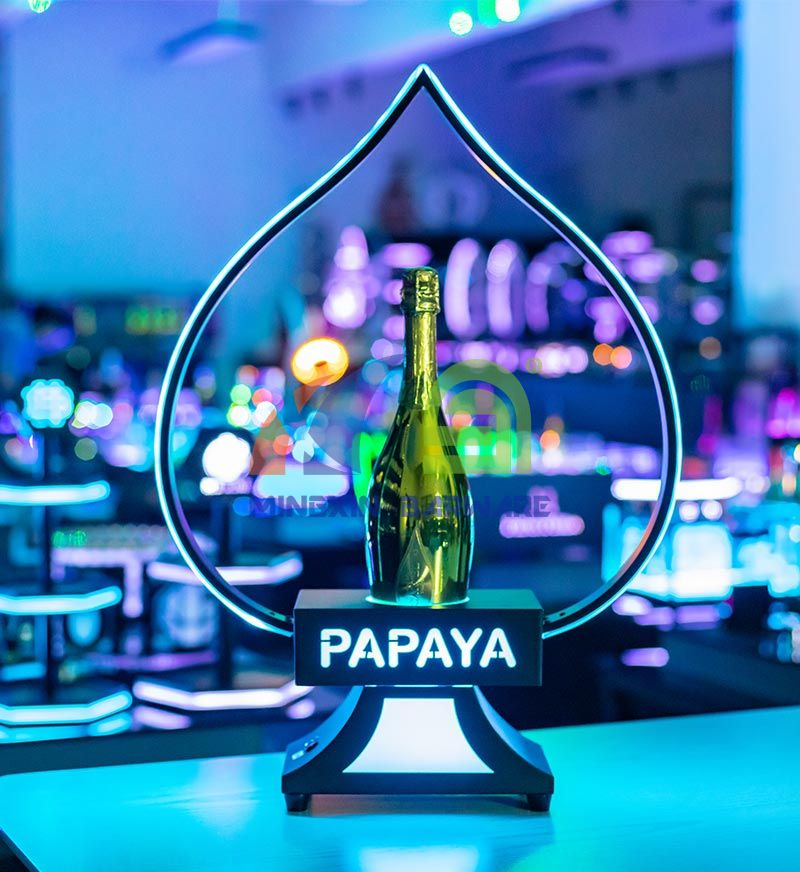 Metal Frame Ace of Spade Champagne Bottle Glorifier Presenter