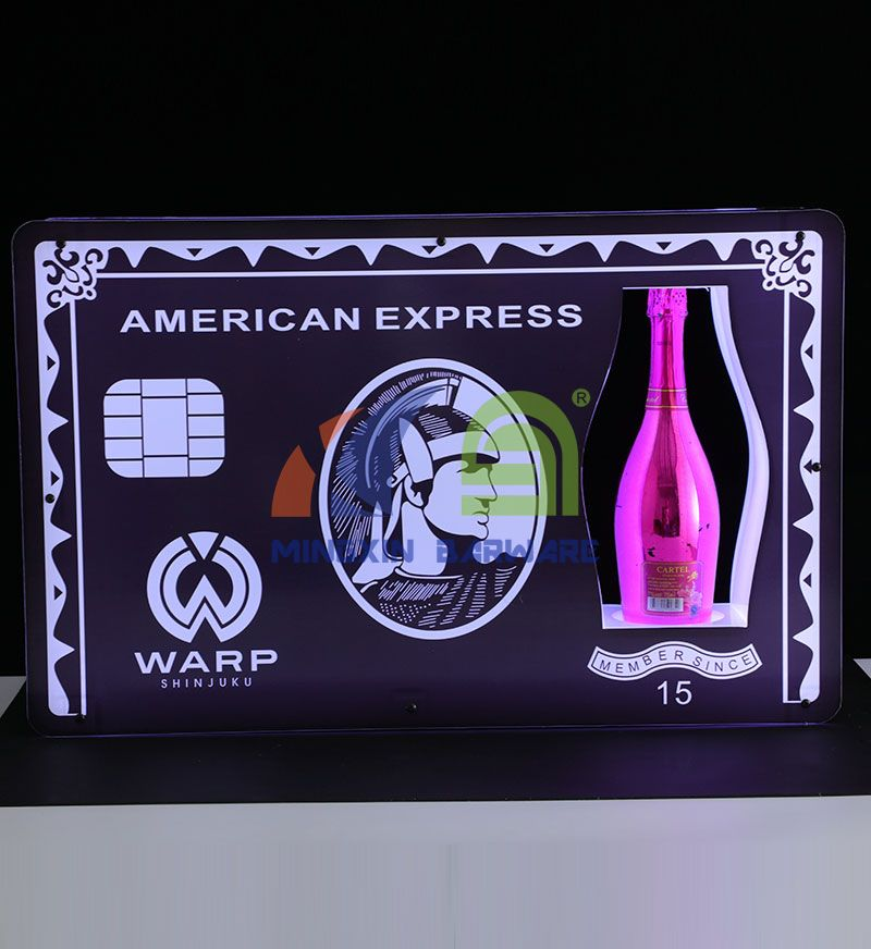 VIP American Express Champagne Bottle Carrier Presenter