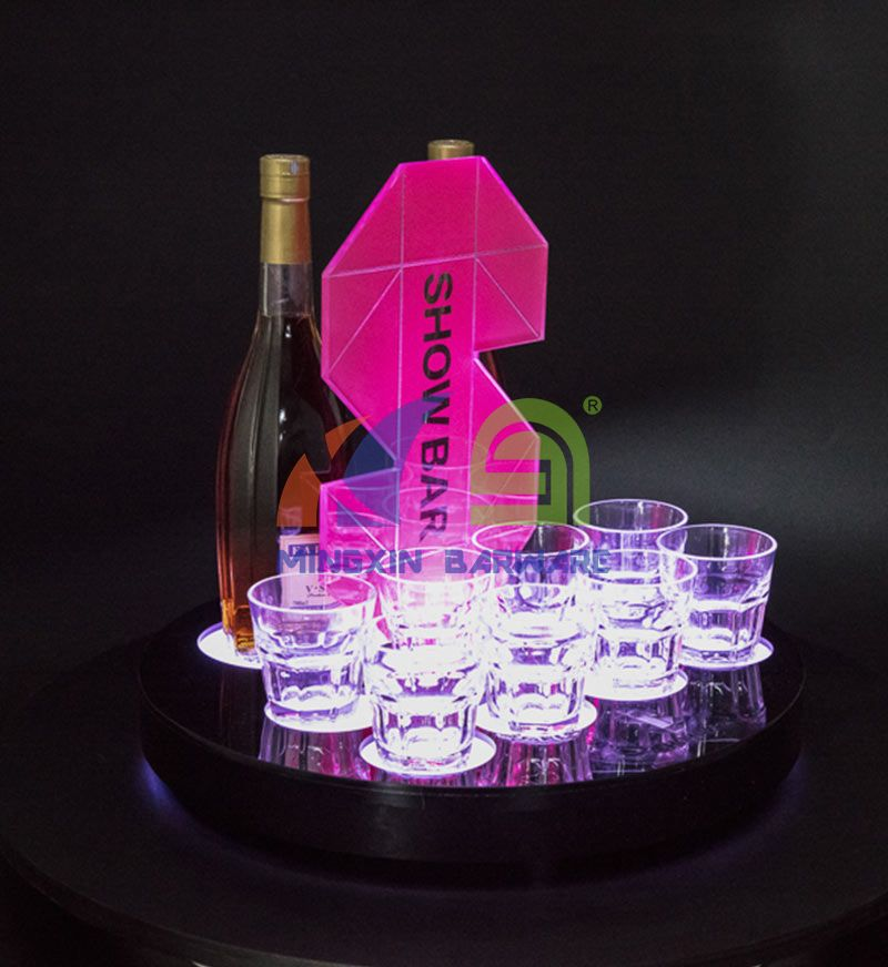 Whiskey Glass LED Serving Tray
