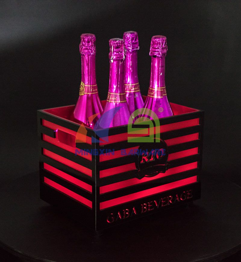 4 Bottles Champagne LED Ice Bucket with Bars