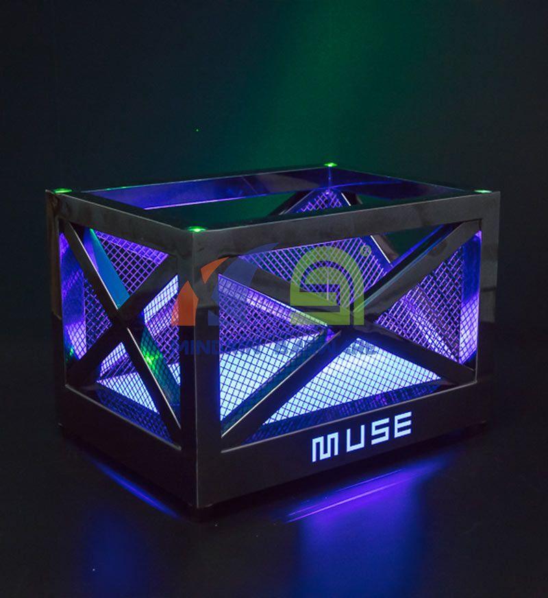 Metal Frame LED Ice Bucket with Laser Lighting