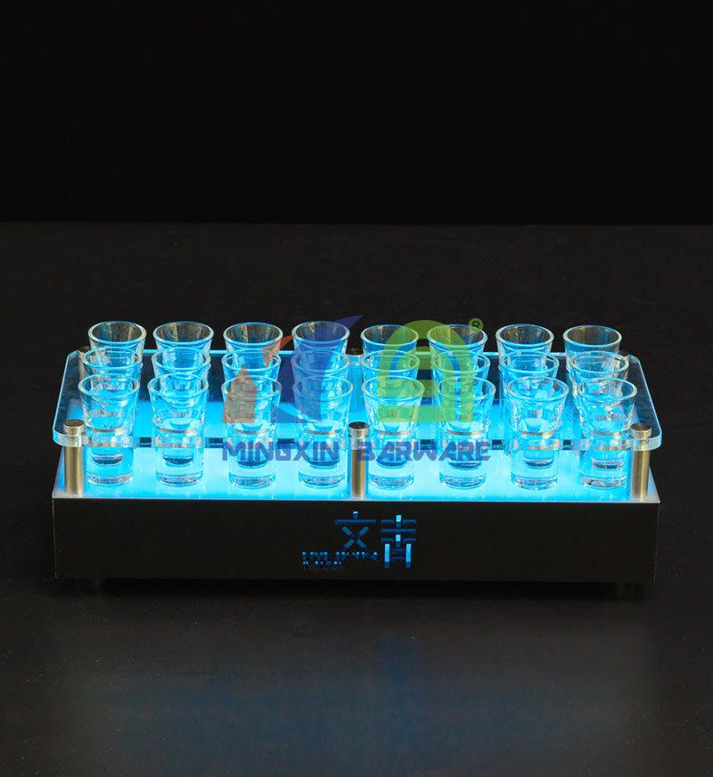 24 Shot Glass LED Serving Tray
