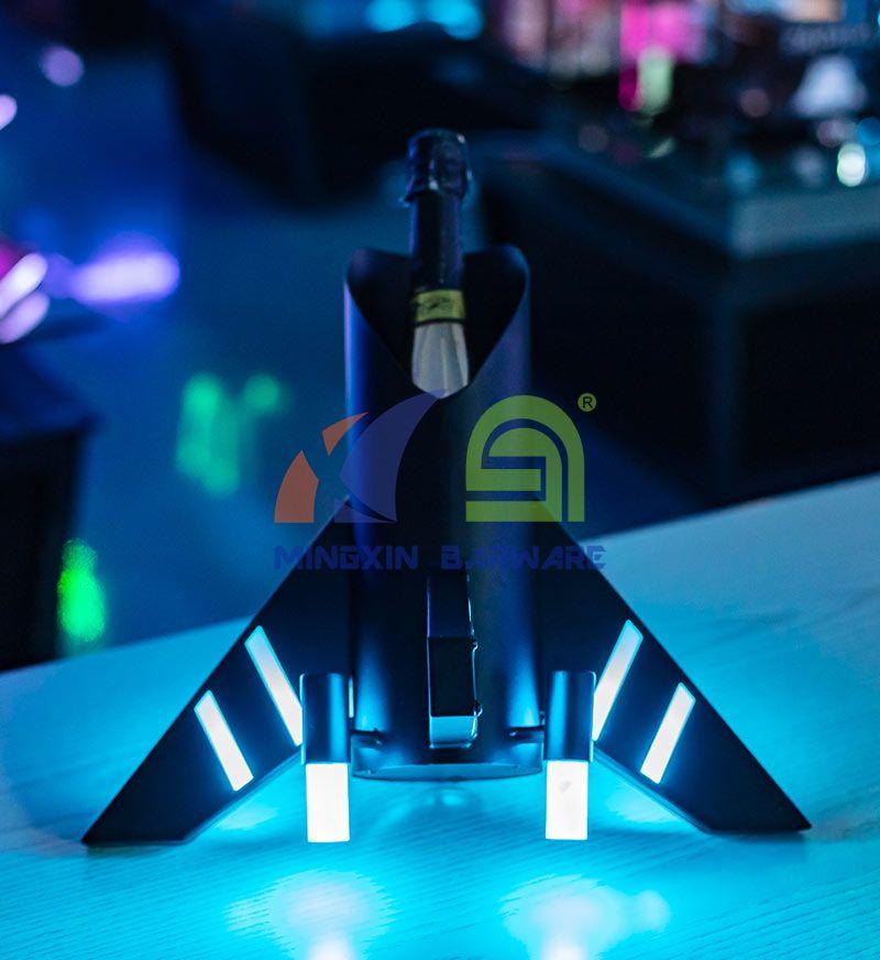 Airplane One Bottle LED Champagne Bottle Presenter Carrier