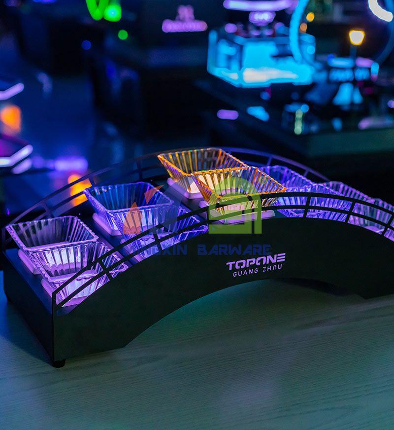 Bridge Shape Snack Dish LED Serving Tray