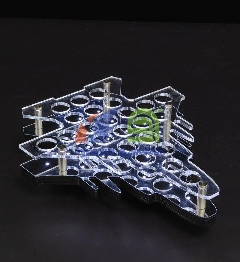 Airplane Shape 24 Shot Glass LED Serving Tray