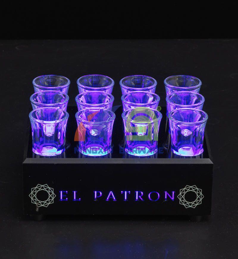 12 Shot Glass LED Serving Tray