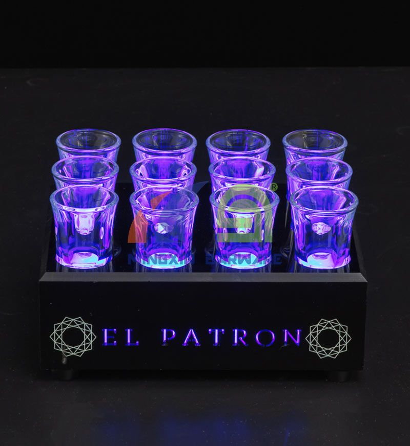 12 Shot Glass LED Serving Tray