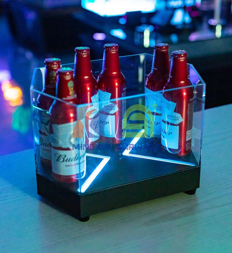 Hexagon Shape Beer LED Ice Bucket