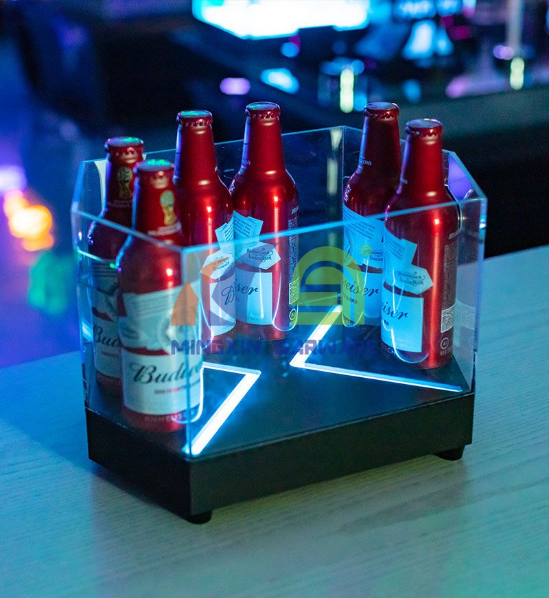 Hexagon Shape Beer LED Ice Bucket