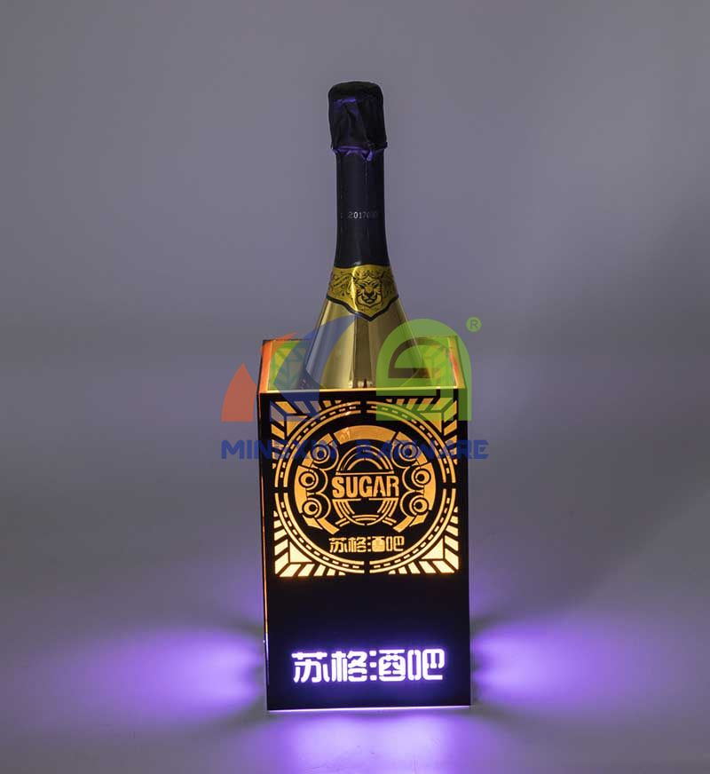 One Bottle LED Ice Bucket with Laser Engraved Pattern