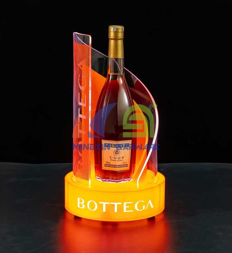 Orange Wavy Shape Double Layer Bottle Presenter