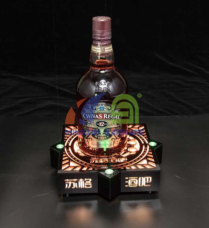 One Bottle Glorifier with Green Laser Lighting