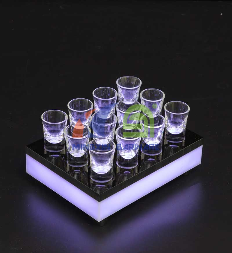 Shot Glass Serving Tray for 24 Shots