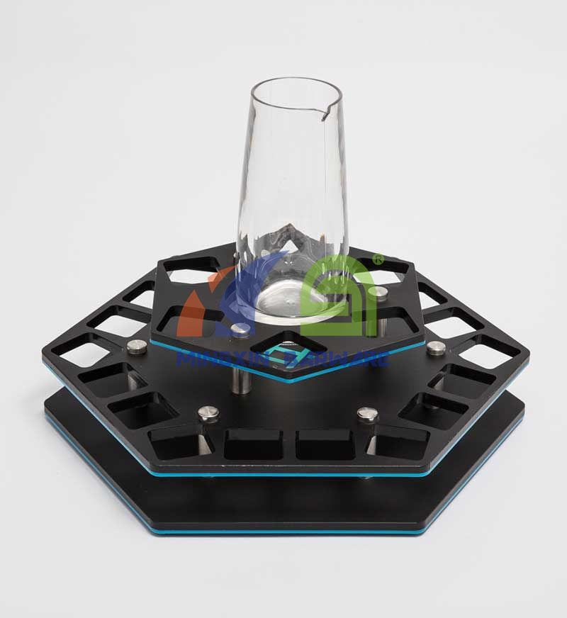 Hexagon 24 Shot Glass Serving Tray with Pitcher